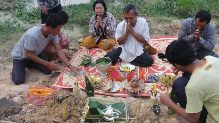 histisches Ritual auf unserem Grundstück