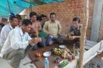 Buddhistische Segnung der Arbeiten