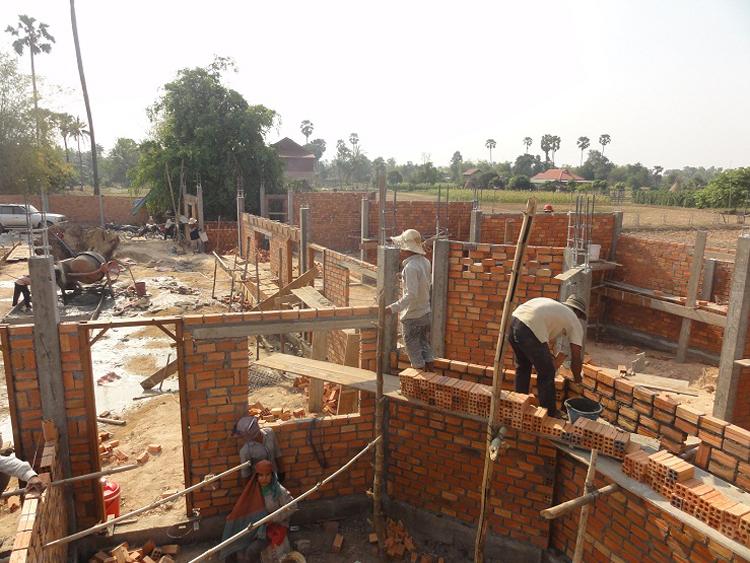 Blick über die Baustelle