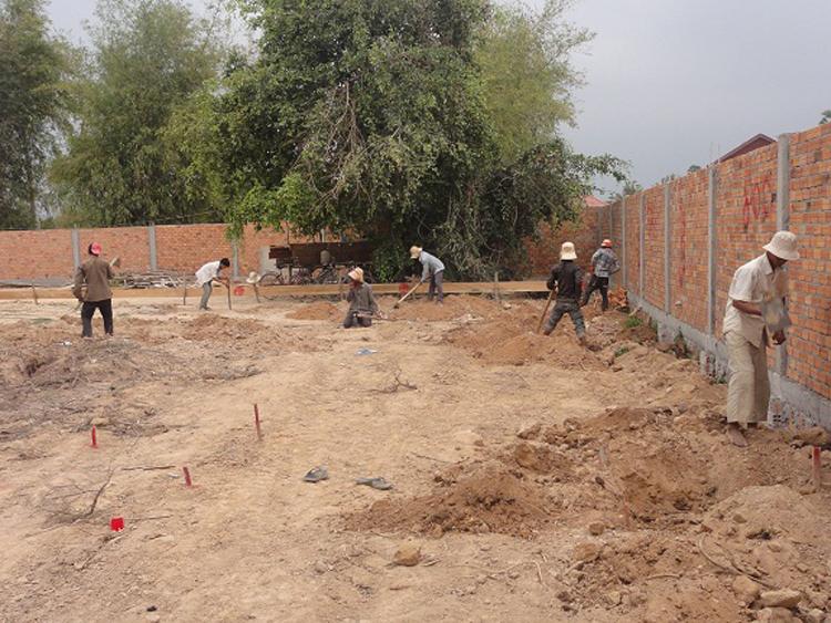 Grabungsarbeiten für das Fundament