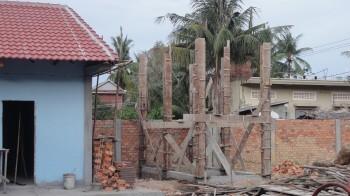 Schalungsarbeiten für die sanitären Anlagen