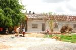 Arbeiten am Dachstuhl des Waisenhausgebäudes