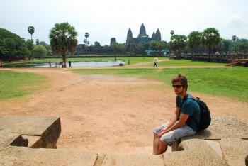 Dominik bei den Tempeln von Angkor Wat