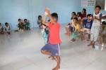 Die Kinder beim Tanzen