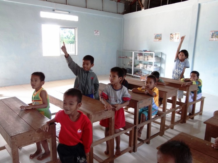 Unterricht im Waisenhaus