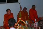 Segnung durch einen der Mönche