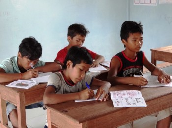 Die Kinder im Unterricht