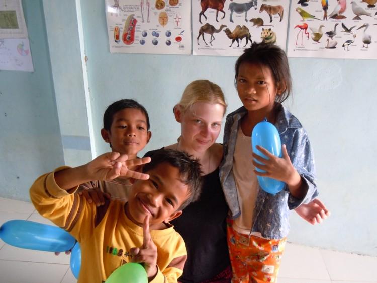 Julia mit den Kids
