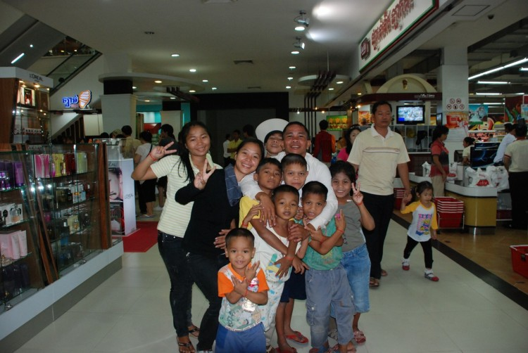 Besuch im Einkaufszentrum