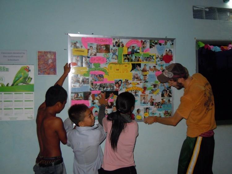 Aufhängen der Wand