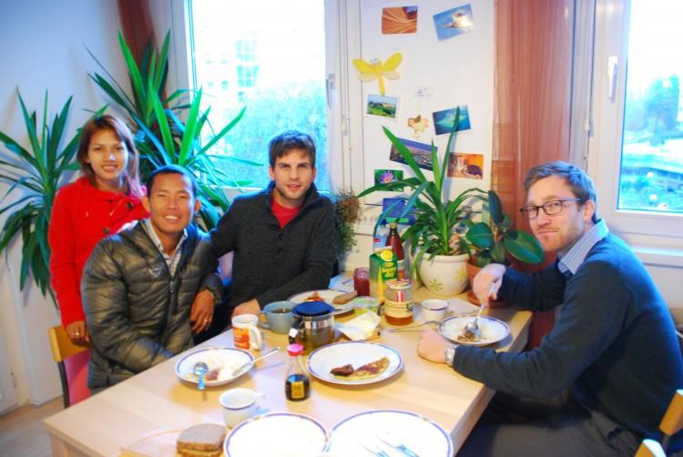 Frühstück bei Birgit und Dominik