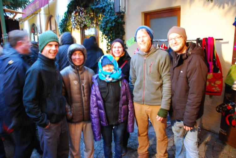 Beim Weihnachtsmarkt in Salzburg