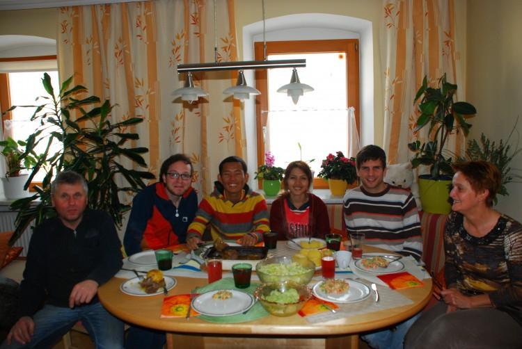 Essen bei den Laisters