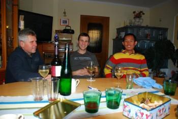 Ein Glaserl Wein bei den Laisters