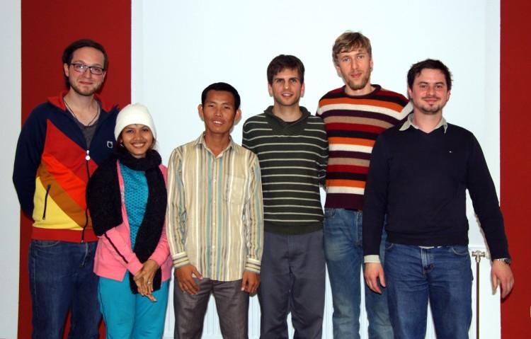 Gruppenfoto mit Christian und Peter in Wiesensfeld