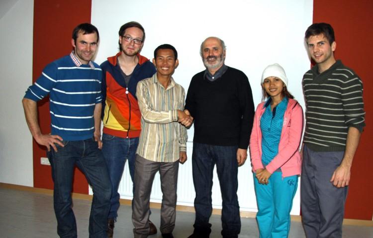 Gruppenfoto mit der Firma Kitzler in Wiesensfeld