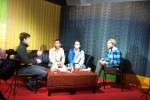 Dominik, Savong, Christoph und Remo im dorfTV-Studio