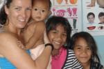 Manuela mit den Kindern