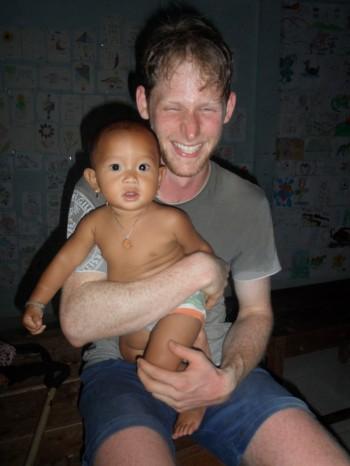 Simon in Kambodscha