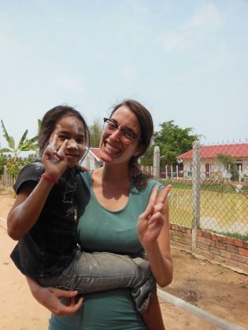 Anna in Kambodscha