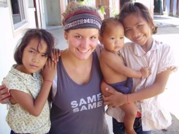 Jana mit den Kindern