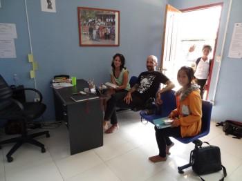 Wichtige Gespräche mit den VolontärInnen und Soya
