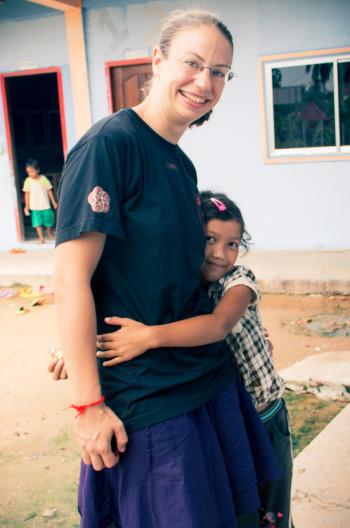 Ines mit einem unserer Kids