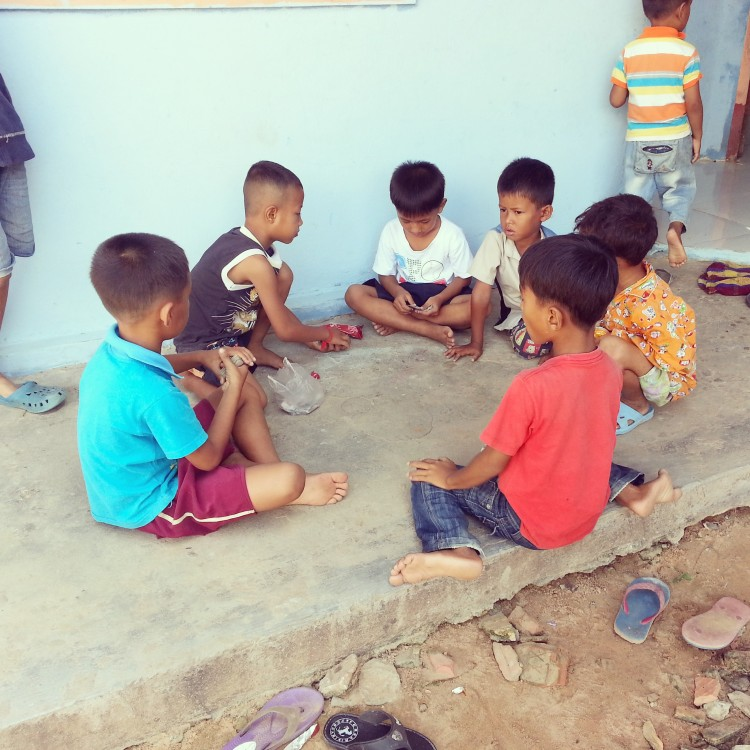 Die Kinder beim Spielen