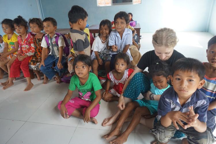 Isabel mit den Kids