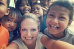Ingrid mit den Kids