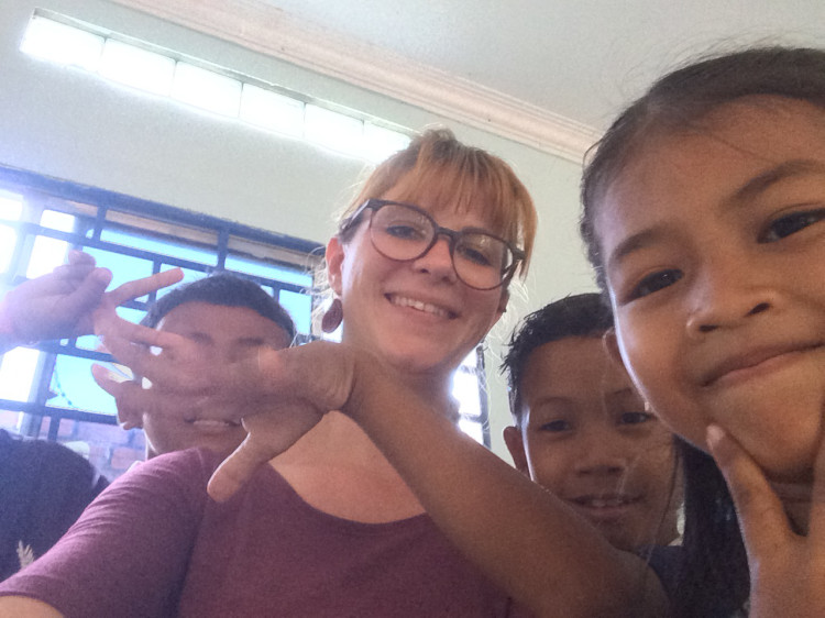 Sandra mit Kindern