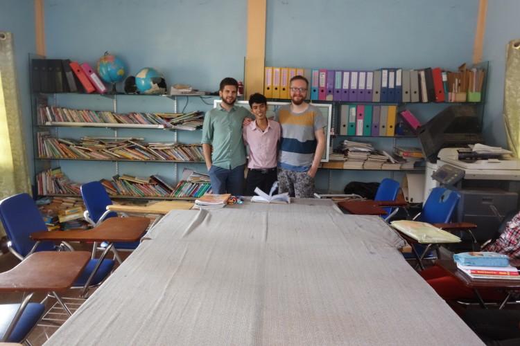 Christoph und Dominik mit Englischlehrer