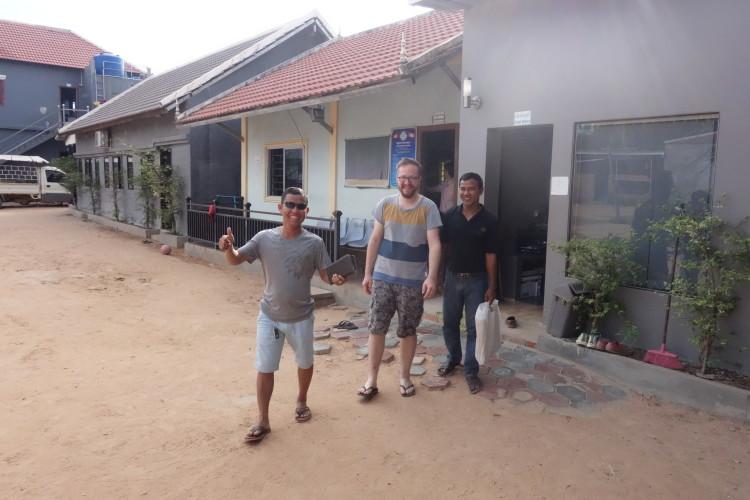 Christoph, Dominik und Savong